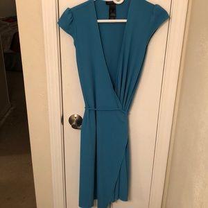 Sky blue Kenneth Cole wrap dress